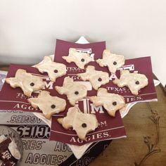 Texas A&M graduation party cookies