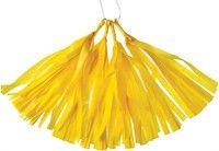 ***Tissue Paper Tassels - Yellow
