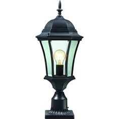 Check out the Z-Lite 522PHM-BK-PM Wakefield 1 Light Outdoor Post Light in Black