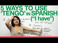 """5 Ways to use """"tengo"""" in Spanish - Butterfly Spanish Video To Have In Spanish, Spanish Help, Spanish Lessons For Kids, Learn To Speak Spanish, Learn Spanish Online, Study Spanish, Spanish Grammar, Spanish Vocabulary, Spanish Language Learning"""