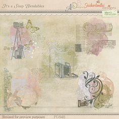 It's A Snap Blendables by #SnickerdoodleDesigns, #ADBDesigns and #JilbertsBitsofBytes.  Round 4 of the #StudioRoundRobin #digitalscrapbooking