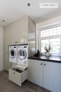 """Fantastic """"laundry room storage ideas"""" info is available on our site. Small Utility Room, Utility Room Storage, Laundry Room Storage, Diy Garage Storage Cabinets, Laundry Room Cabinets, Modern Laundry Rooms, Laundry Room Layouts, Open Kitchen And Living Room, Laundry Room Inspiration"""