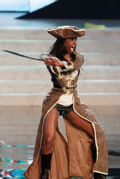 Miss Bahamas — Best On-Trend Leather Shorts | 36 Most Amazingly Elaborate Miss Universe Costumes