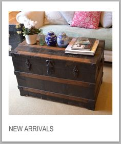 old chest as a coffee table