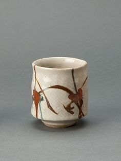 Randy Johnston | Yunomi, clear glaze over rope inlay with iron brushwork, Stoneware, 4 x 3.5 x 3.5""