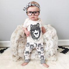 Retail 2016 Del Estilo Del Verano Infantil Ropa de Bebé Establece Niños Pequeños Monstruos de Algodón de Manga Corta 2 unids Ropa Del Bebé V20