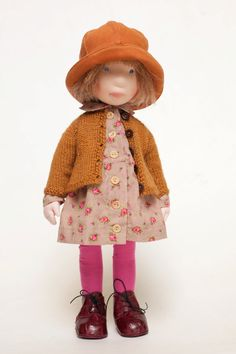 Nellie OOAK handcrafted cloth doll partial by AldegondeCeelen