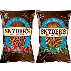 Best Brands for Kids With Food Sensitivities: Snyder's of Hanover Pretzels (Gluten Free) (via Parents.com)