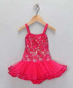 Another great find on #zulily! Fuchsia Chloe Skirted Leotard - Infant, Toddler & Girls #zulilyfinds