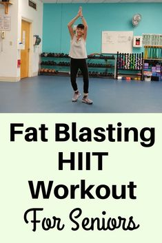 Fat Burning HIIT Workout for Seniors Blast fat and calories with this senior high intensity interval workout Zumba Fitness, Senior Fitness, Workout Fitness, Kids Fitness, Fitness Tips, Interval Training Workouts, High Intensity Interval Training, Training Day, Calories