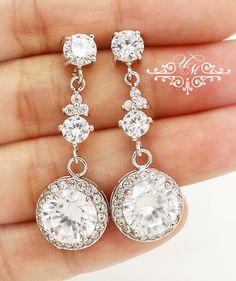 AAA Zirconia Earrings / Wedding Earrings / Zirconia earrings studs : 6mm Zirconia Pendant size : 14mm Earrings Length approx : 1.5 inches 100% Brand New / https://www.etsy.com/listing/213829228/wedding-jewelry-aaa-cubic-zirconia?ref=shop_home_active_16