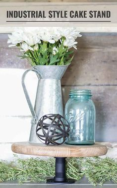 How to make your own industrial cake stand - 3 easy steps!