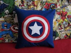 Captain America Pillow Case  Superhero  by CreativeKryptonite, $15.00