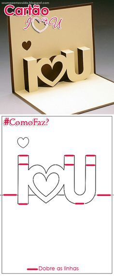 Sou Mãe e me cuido!: 4 Idéias de Cartões para o Dia dos Namorados - com D.I.Y