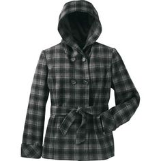 Women's Wool Plaid Layback Hooded Jacket at Cabela's