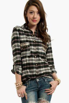 Studly Plaid Shirt $33 at www.tobi.com