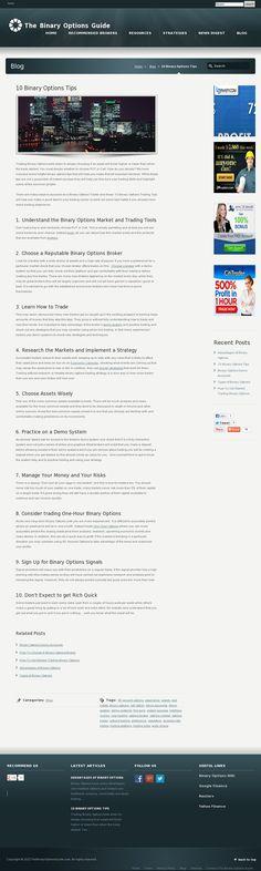10 Binary Options Tips........................   http://www.thebinaryoptionsguide.com/binary-options-tips'