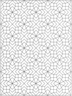 Coloring Pages Patterns Free Geometric Pattern Coloring Page