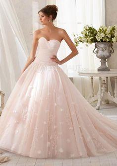 A-Linie Raffungen Applikation Organza Prinzessin Hochzeitskleid mit  Pinsel-Schleppe   UD8654  c57e6b25a6