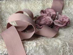 Bridal violet sash Mauve bridal sash Dusty by WhiteBridalBoutique, $45.00