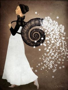 Great framed picture for a more modern, neutral color child's room. Starfairy by Catrin Welz-Stein
