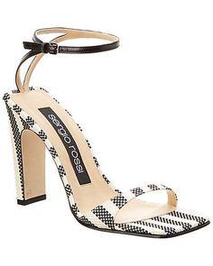 Rue La La — Sergio Rossi SR1 Leather-Trim Sandal