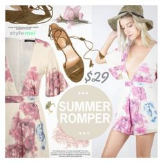 """""""Summer Romper"""" by black-fashion83 ❤ liked on Polyvore featuring Bare Escentuals, polyvoreeditorial, polyvoreset and stylemoi"""