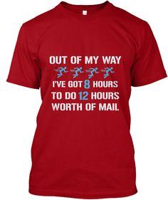 Postal worker I have 8 hours of mail 1ec61c8da