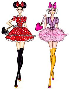 Minnie Mouse and Daisy Duck by Hayden Williams