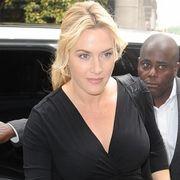 Kate Winslet Seen Wearing Ariel Gordon Jewelry's - Diamond Lariat Necklace #AGJEveryday #DiamondLariatNecklace  #KateWinslet www.arielgordonjewelry.com