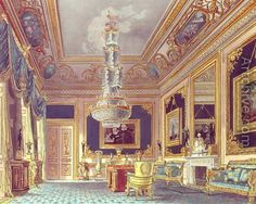 Blue salon at Carlton House in London, c. 1818