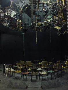 Scenic design by Garance Marneur. Stage Set Design, Set Design Theatre, Set Theatre, Theater, Bühnen Design, Bath Design, Showroom Interior Design, Sound Installation, Scenic Design