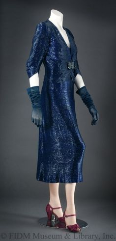 Dress Elsa Schiaparelli, 1938 The FIDM Museum