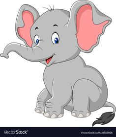Vector illustration of cartoon cute baby elephant sitting. Baby Elephant Drawing, Cute Elephant Cartoon, Elephant Quilt, Cute Baby Elephant, Baby Elephants, Cartoon Cartoon, Cartoon Images, Elephant Images, Elephant Illustration