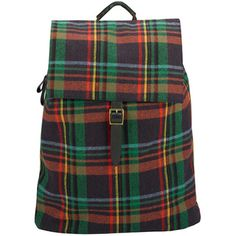 tartan backpack at Paperchase