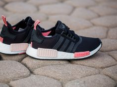 37042ac43 Fashion nmd runner w black pink women s casual shoes