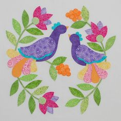 Foribunda by Erin Russek - Block Bird Applique, Wool Applique Patterns, Quilt Block Patterns, Applique Quilts, Quilt Blocks, Coat Patterns, Blouse Patterns, Sewing Patterns, Quilting Templates