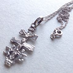 Religious Talisman Necklace - Sterling Silver - Made in Italy by LoftyMixVintage on Etsy