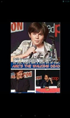 Lmfao!!!!! Chandler Riggs. The look on Norman and Andy's faces. Lol!