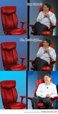 Funny pictures about Bill Gates is going to hell. Oh, and cool pics about Bill Gates is going to hell. Also, Bill Gates is going to hell. Superman, Batman, Funny Images, Funny Photos, Best Funny Pictures, Bill Gates Steve Jobs, Starwars, Microsoft, Harry Potter