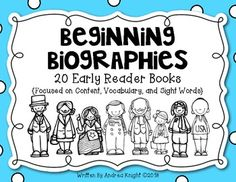 Beginning Biographies: This set of student books includes simple biographies featuring 10 important people from Americas Kindergarten Social Studies, Social Studies Classroom, Teaching Social Studies, In Kindergarten, Teaching Resources, Teaching Ideas, Reading Activities, Guided Reading, Teaching Reading