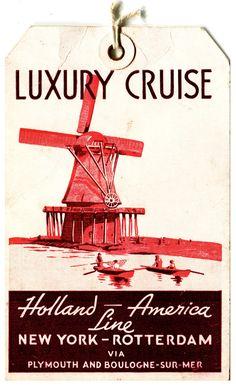 LUXURY CRUISE - Holland-America Line  New York - Rotterdam ~ 1938
