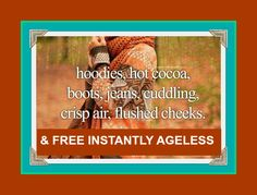 OCTOBER PROMOTION...Join Jeunesse and purchase our Popular Basic Skin Care Package and Receive 1 Free Box of Instantly Ageless.  www.instantlytimeless.com Free Boxes, Timeless Beauty, Mists, Promotion, October, Join, Skin Care, Autumn, Popular