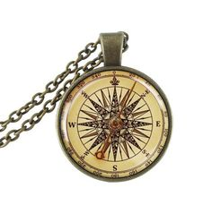 Vintage style compass necklace - $7.69