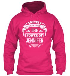 Never Underestimate The Power of Jenifer Hoodie Black