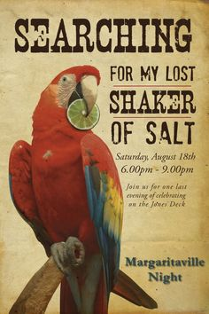 Searching for my last shaker of salt . . . Nothing says Beach Life better than Buffett...