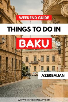 Baku is an interesting city to visit on your trip to the Caucasus. Here're my recommendations on things to do in Baku on a weekend trip #baku #azerbaijan #caucasus things to do in Baku Azerbaijan   Baku Azerbaijan things to do   Baku things to do   what to do in Baku   Caucasus travel Iceland Travel, Bali Travel, Africa Travel, World Travel Guide, Travel Guides, Travel Tips, Azerbaijan Travel, Baku Azerbaijan, Africa Destinations