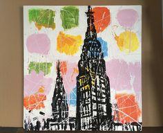Tom Christopher, Clouds in Midtown on ArtStack #tom-christopher #art