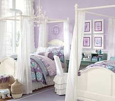 Catelynn is going to loooovvvveee this! <3  Madeline Bed & Canopy #WilliamsSonoma