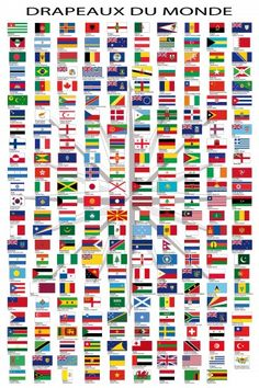 Flags Of The World - Country Names Capitals Poster Print Countries And Flags, Countries Of The World, World Country Names, World Flags Printable, Canvas Poster, Poster Prints, Spanish Posters, World Map Poster, Architectural Prints